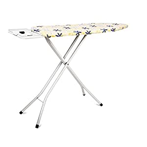 PAffy Premium Metal Ironing Board Table - Foldable - with Grilled Iron Holder - White - Lifetime Warranty