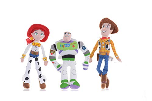 Price Toys Buzz Lightyear, Woody und Jessie Weiches Spielzeug-Puppe Set-Disney Toy Story Mini Bohne Sammlung (Buzz / Woody / Jessie)