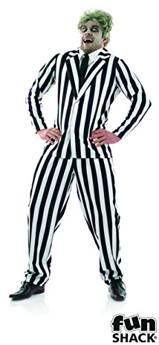 Mens Black And White Suit Adult Men Halloween (Mad Halloween Kostüme Men)