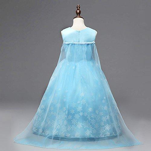 8579c92f9 Vicloon - Disfraz de Princesa Elsa Capa Disfraces Belle Vestido y Accesorios  para Niñas