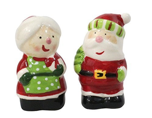 LINX Ceramic Salt & Pepper Shakers - Mr. & Mrs. Claus by Linx