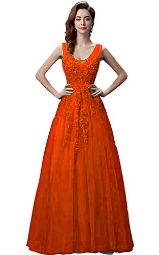 Vimans -  Vestito  - linea ad a - Donna Orange