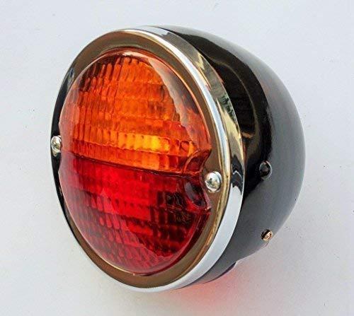 Bajato: Runde Vintage Traktor Hinten Heck Lampe Licht mit Nummernschild Fenster 12v- 11000803