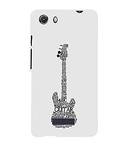FUSON Music Guitar Concept 3D Hard Polycarbonate Designer Back Case Cover for Micromax Unite 3 Q372 :: Micromax Q372 Unite 3