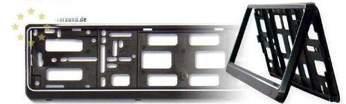 Preisvergleich Produktbild praktischer klapp Kennzeichenhalter in schwarz passend für die Kennzeichengröße 520 mm x 110 mm