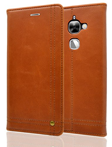 Bounceback® [ For LeEco Le 2 Le2 ] Premium Executive Style P.U leather Magnetic Flip /Flap Cover/Cover - Brown
