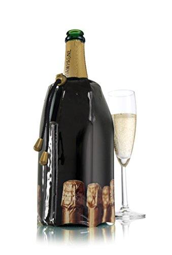 Vacu Vin Aktiv Champagnerkühler Motiv Flaschen Flaschenkühler, Kunststoff, 225x155x30