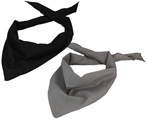 Alex Flittner Designs 2er Pack Dreieckstuch in schwarz/grau