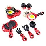 Newin Star Juquete Cocinar niño Juguetes de plástico Conjunto de 12 Home Utensilios de Cocina Puzzle de Cocina Juguetes el Juego de simulación de Alimentos Juguetes