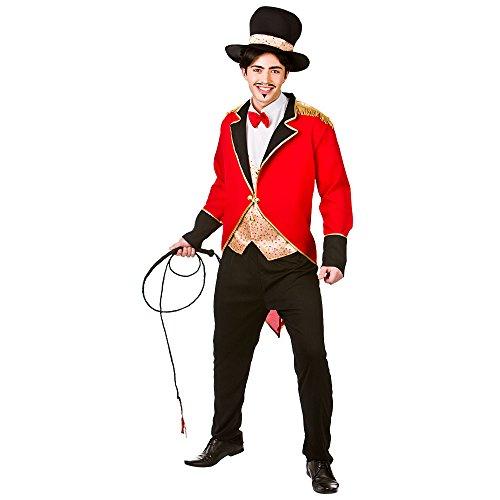 (M) Herren Circus Zirkusdirektor Kostüm für Karneval Circus Funfair Fancy Kleid Mans Stecker M (Zirkusdirektor Jacke & Weste Kostüme)