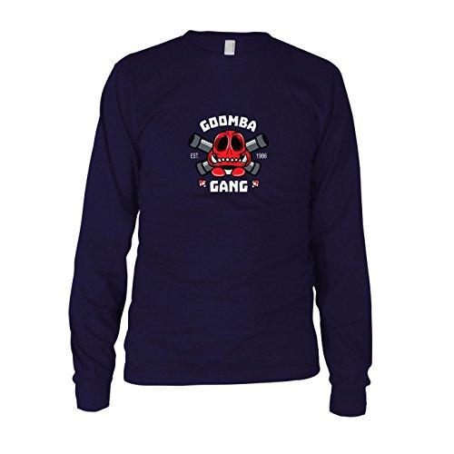 Goomba Gang - Herren Langarm T-Shirt, Größe: S, dunkelblau