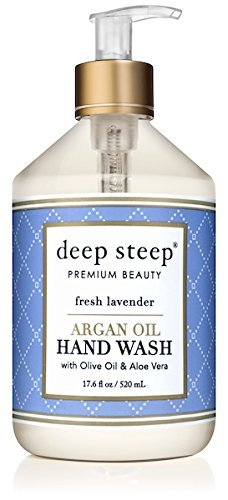 Deep Steep Argan Oil Liquid Hand Wash, Fresh Lavender, 17.6 Ounce -