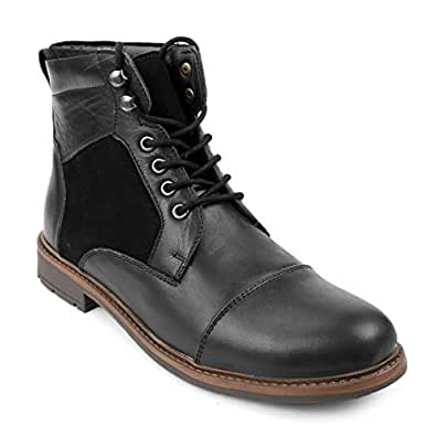 Shences Genuine Leather high top Boots Black