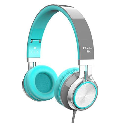 Elecder i39 Kopfhörer mit Mikrofon für Kinder Mädchen Jungen Teenager Erwachsene faltbar verstellbar mit 3.5 mm Klinkenstecker für iPad Handys Computer MP3/4 Kindle Flugzeug Schule