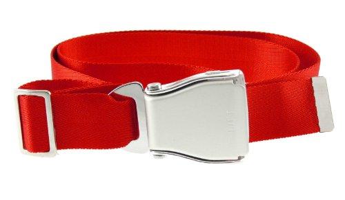 Flugzeugsicherheitsgurt - Gürtel - Airplane Seat Belt - Flugzeug Sitzgurt Gürtel - rot - Sitzgurt Gürtel