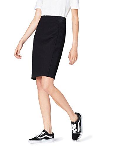 FIND Falda de Tubo con Paneles Laterales para Mujer , Negro (Black), 42 (Talla del Fabricante: Large)