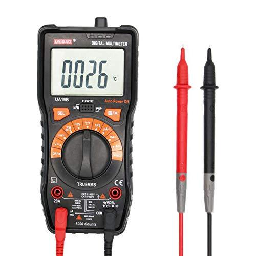 Multimeter Digitalanzeige Handheld Handheld Anti-Burn-multimeter Ncv Berührungslose Spannung Testdaten Zur Beibehaltung des Ergonomischen Designs, Black Multimeter Berührungslose Spannungsdetektor