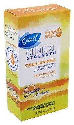 Secret Deodorant Clinical Strength Citrus 1.6oz Box (3 Pack) by Secret Deodorant