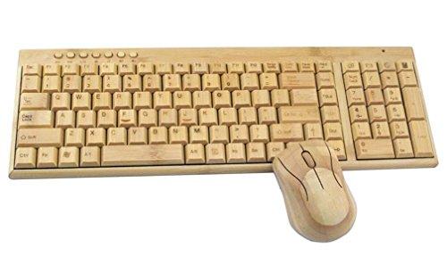 Bambus-Holz-Paket 2.4G Drahtlosen Notebook-Maus Und Tastatur Spiel Home-Office