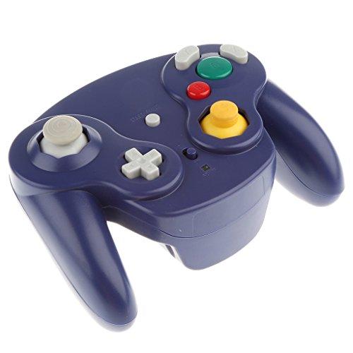 Homyl Contrôleur Sans Fil de jeu Vidèo Équipement jeu Vidèo Pour Nintendo Gamecube - Violet
