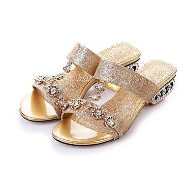 Silver komfort Damen sandalen blockabsatz lässig pu Catthief xqYXd6wX
