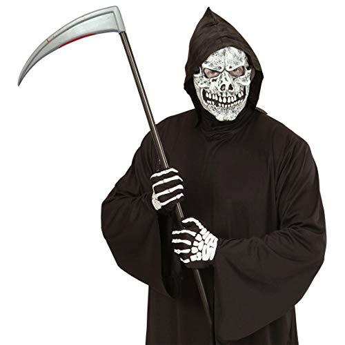 NET TOYS Halloween-Sense mit Blutflecken | 107 cm lang | Gruseliges Unisex-Kostüm-Zubehör Gevatter Tod Sichel | Genau richtig für Horror-Party & ()