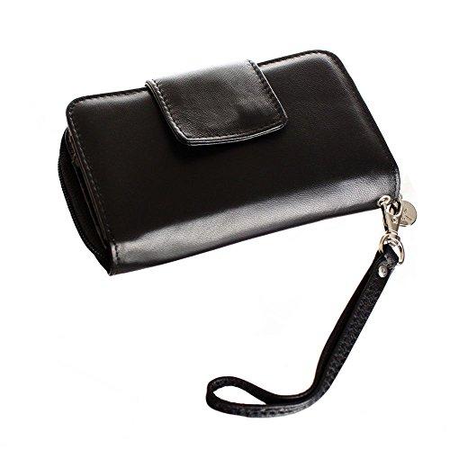 Diva Clutch Wallet (Limited Edition Leather Wristlet (Obsidian Black))