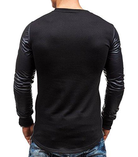 BOLF - Sweat-shirt - Pull de sport – avec impression – STEGOL 218 - Homme Noir