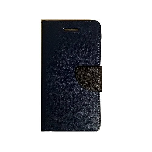 Lomoza TM© Wallet Diary Flip Cover Case for Xolo A600 - Blue - Premium Cover with Inner Pocket  available at amazon for Rs.349