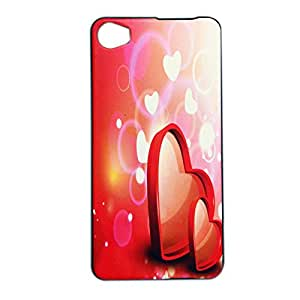 ksc sales New Rubber Finish Printed Silicone Soft Back Case Cover For Intex Aqua Glam