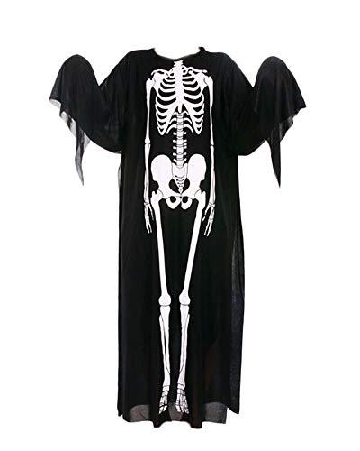 Guiran costume da halloween per bambini adulto cosplay scheletro terrorista teschio scheletro vestito prestazioni 120cm