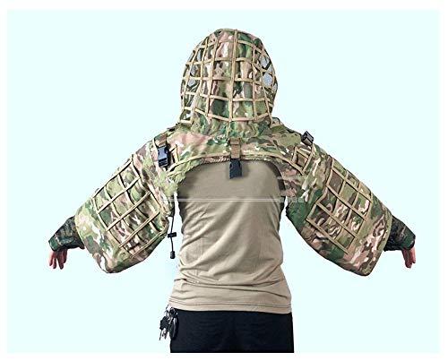 Camouflage Anzug Umhang, abnehmbar, geeignet für Camo Militär Jagd Air Gun Wildtier Fotografie, Multi-Style und Multi-Color Optional (Farbe : A-2) -
