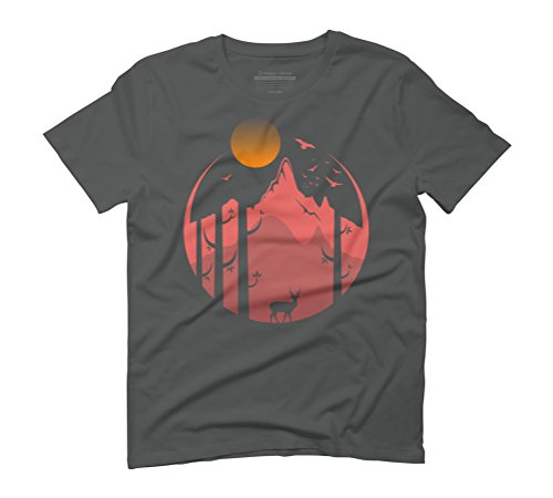 nature (afternoon) Men's Graphic T-Shirt - Design By Humans Anthracite