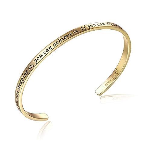 SOLOCUTE Gold Damen Armband mit Gravur