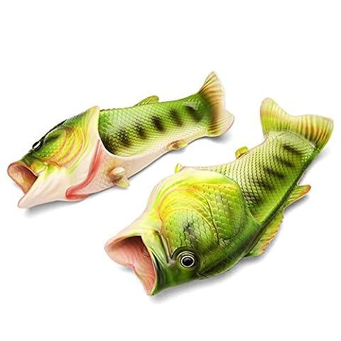 Butterme Unisex Anti Skid Fisch Tier Hausschuhe Lustige Strand Slip auf Open Toe Slide Casual Sandalen Dusche Hausschuhe Schuhe für Frauen Männer Kinder