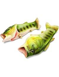 Butterme Funny Beach Animal Fish Slippers Sandalias Antideslizantes para La Familia(40/41)