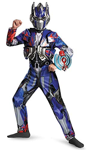 Disguise Hasbro Transformers Age of Extinction Movie Optimus Prime Deluxe Boys Costume, Large/10-12