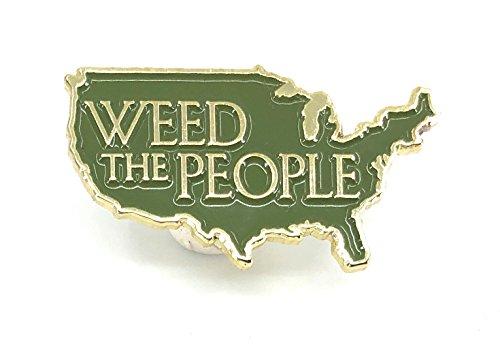 Preisvergleich Produktbild Marihuana-Topf Emaille-Pin Weed The People America USA