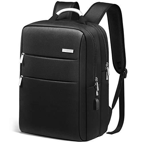 HOMIEE 15.6 Zoll Notebook Schulrucksack Computer Rucksäcke, Business Laptop Rucksack Backpack, Laptop Rucksack mit USB Lade Schnittstelle,wasserdichte Schulrucksack Unisex Daypack