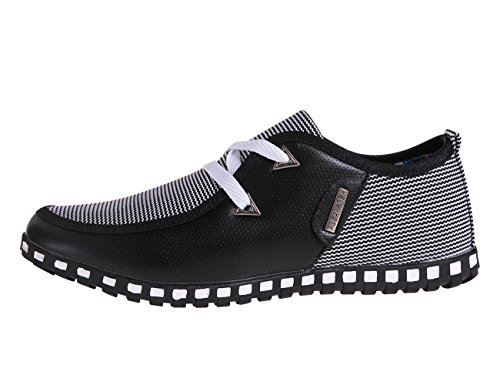 CANRO Mens Loafers Leather Work Dress Shoes