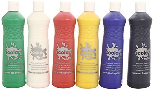 Scola Artmix 6 x 600ml Paint (Coloured)