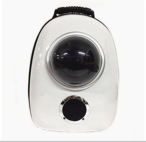 Neueste Stil Hund Katze TräGer Astronaut Kapsel Pet Rucksack Airline Genehmigt Transparente Atmungsaktive Venthole Portable Handtasche Outdoor Travel , Silver ring (Ring-stil-handtasche)