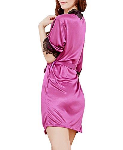 Dissa® Plus Size Lace détaillé Sexy Lingerie, vêtements de nuit, bleu Violet