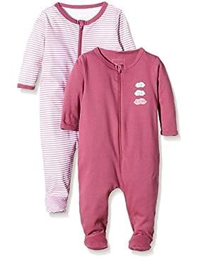 NAME IT Baby-Mädchen Schlafstrampler Nitnightsuit Zip W/F Nb G Noos, 2er Pack