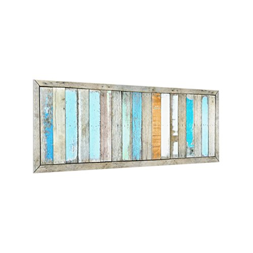Spritzschutz Glas - Shelves of The Sea - Panorama Quer, HxB: 50cm x 125cm -