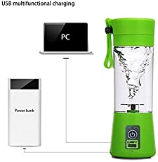 Hanumex® Multifunction 380ML Mini USB Electric Fruit Juicer Cup Rechargeable Smoothie Maker Blender Drink Bottle