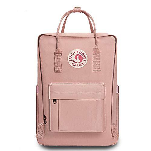 KALIDI Rucksack/Daypack Rucksack Mädchen Jungen & Kinder Damen Herren Schulrucksack mit laptopfach für 15 Zoll Notebook (Rosa) - Rosa Laptop-rucksäcke