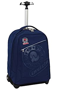 TROLLEY - INVICTA - BENIN - 2in1 Wheeled Backpack with Disappearing Shoulder Straps - Blue 35Lt from Invicta