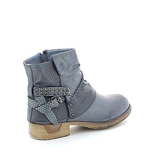 Low-boots à motifs texturés Bleu