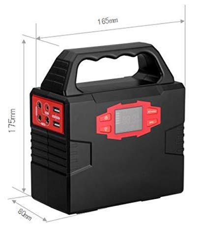 GPWDSN Generator, 150Wh Solar Wechselrichter 40800mAh Batteriesatz Camping CPAP Not-UPS-Kraftwerk, aufgeladen durch Solarpanel/Steckdose/Auto
